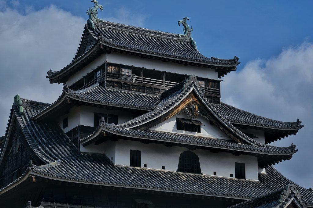 Le haut du château de Matsue