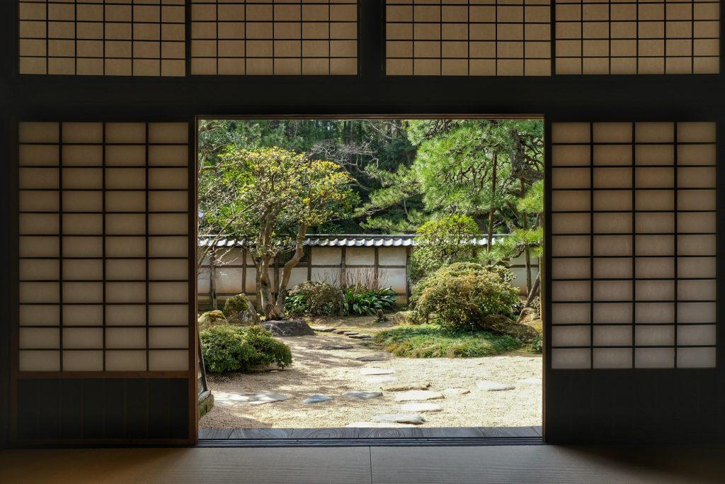 Jardin d'une ancienne maison de samouraï à Matsue