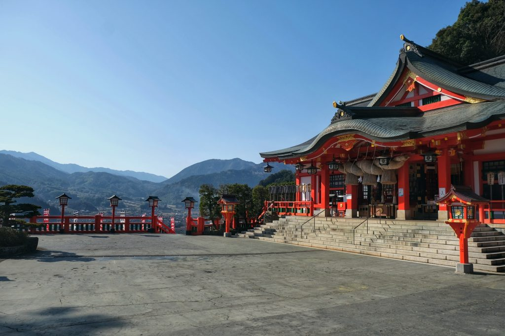Le temple de Taikodani Inari Jinja à Tsuwano