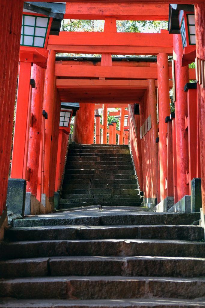L'allée de toriis du Taikodani Inari Jinja à Tsuwano