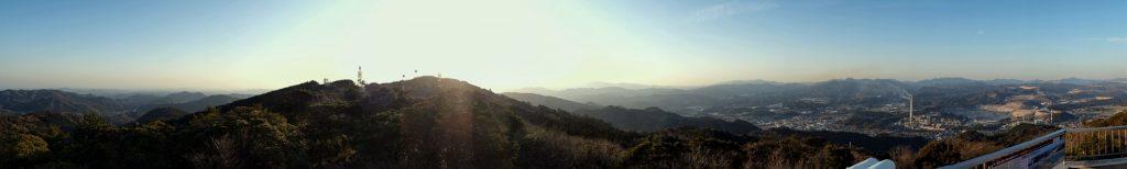 Vue depuis l'observatoire du parc Sakurayama