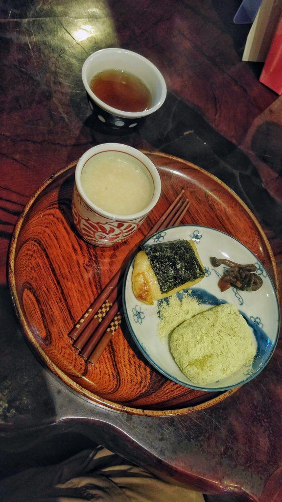 Amazake et dango à l'Amazake Chaya Tea House