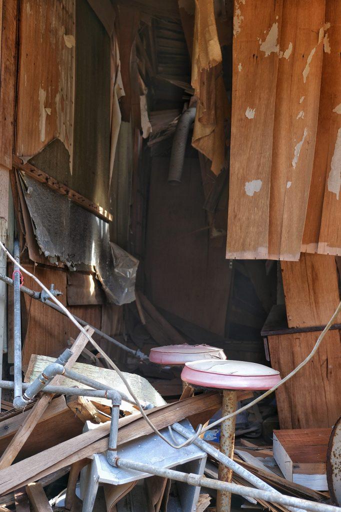Un appartement détruit sur Ikeshima