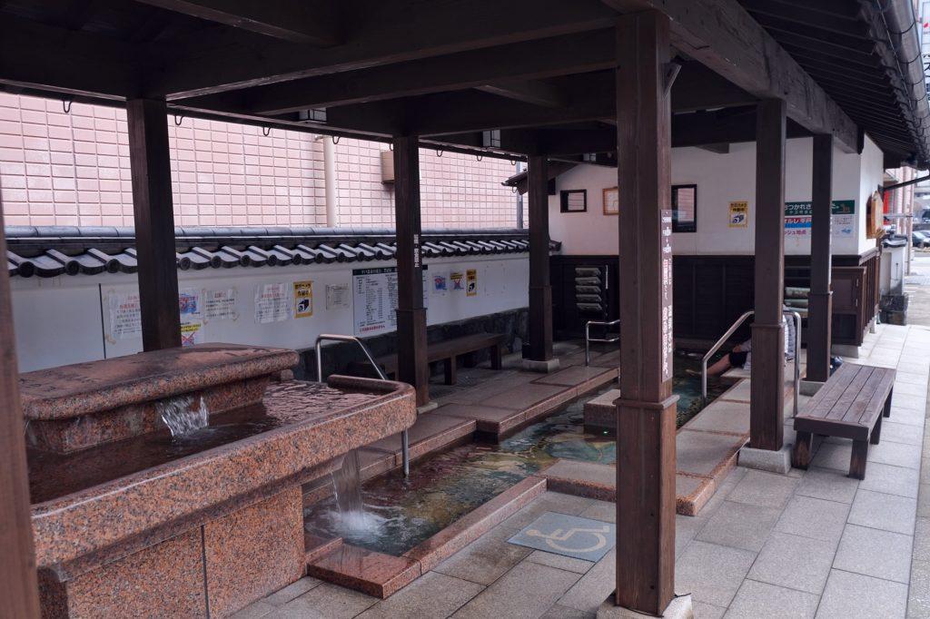 Un onsen de pieds dans la ville de Hirado