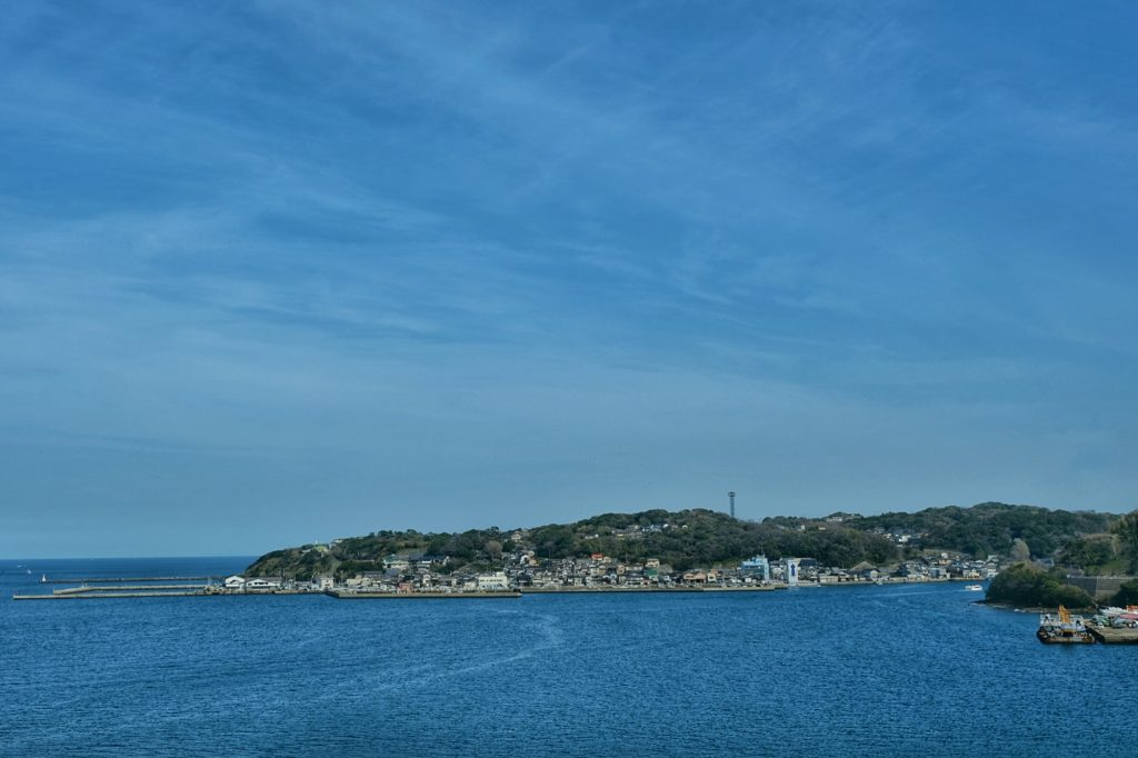 Village en bord de mer sur Kyushu