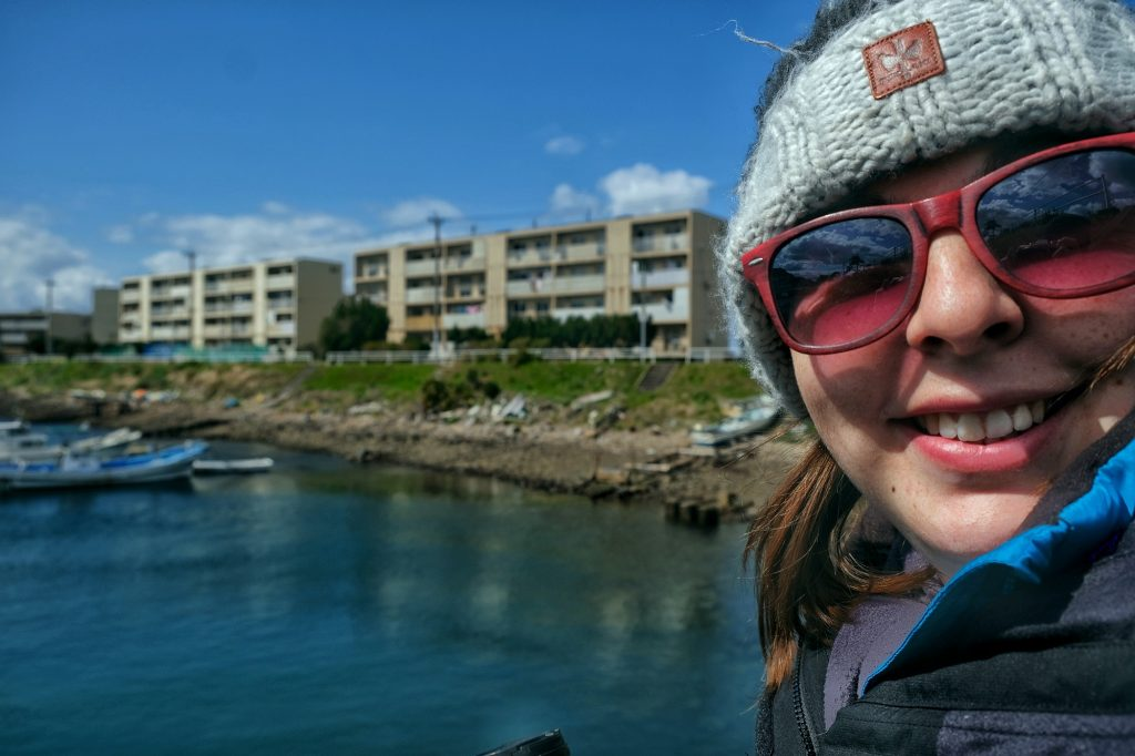 Claire dans le port de l'île d'Ikeshima