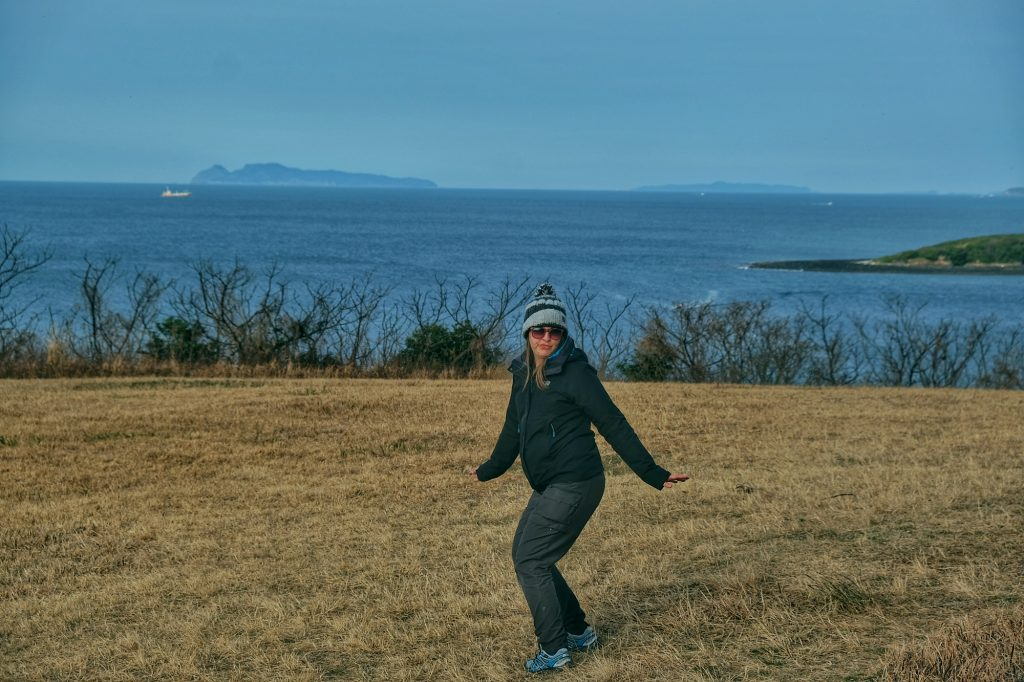 Claire visite notre camping en bord de mer