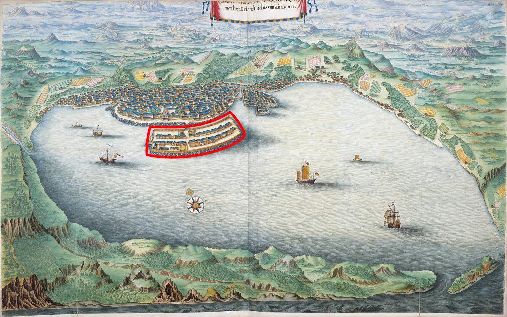L'île de Dejima avant l'ouverture du Japon