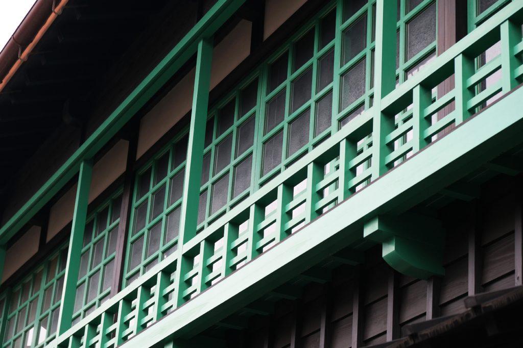 Reconstitution d'une façade de bâtiment sur l'île de Dejima