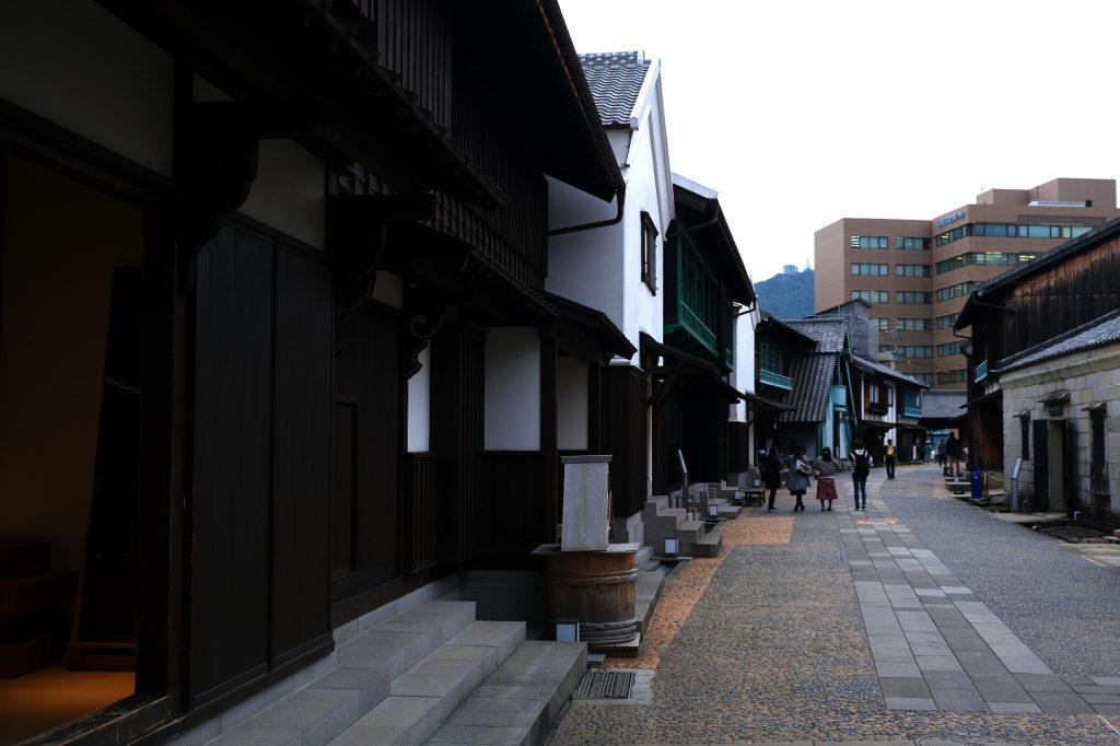 Une rue entière reconstituée sur Dejima