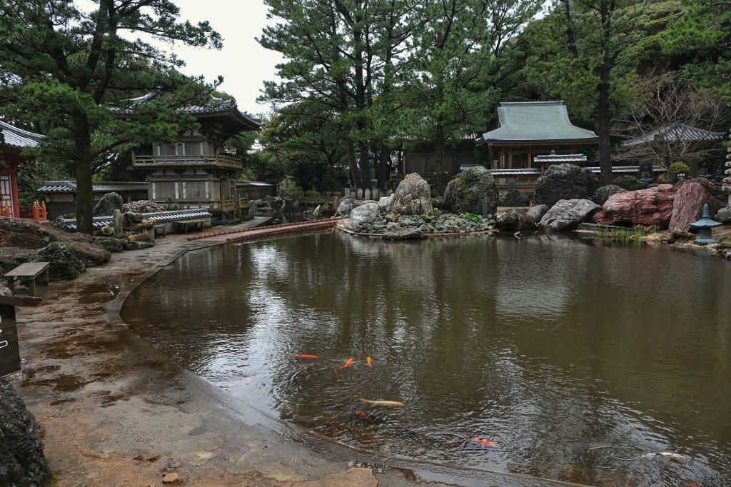 Étang du temple Kongofukuji