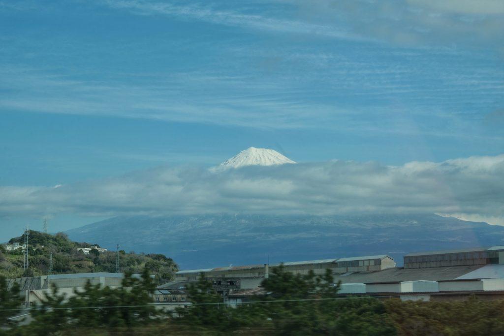En route vers Hakone, le mont Fuji