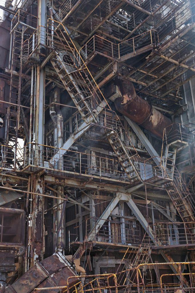 Installation de l'ancienne mine d'Ikeshima