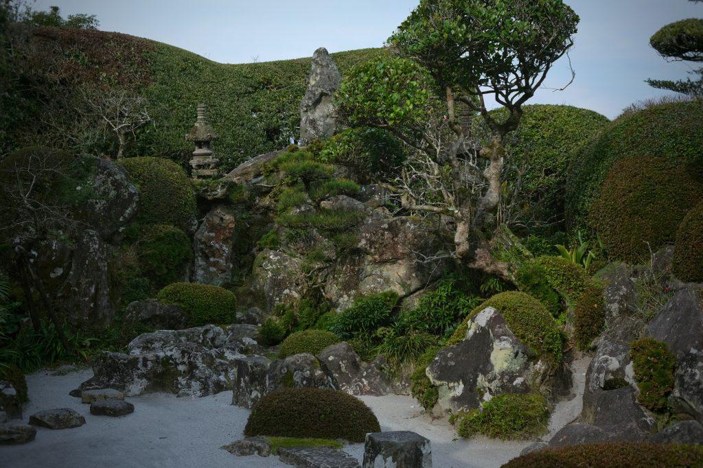 Un jardin d'une maison de Samouraï à Chiran