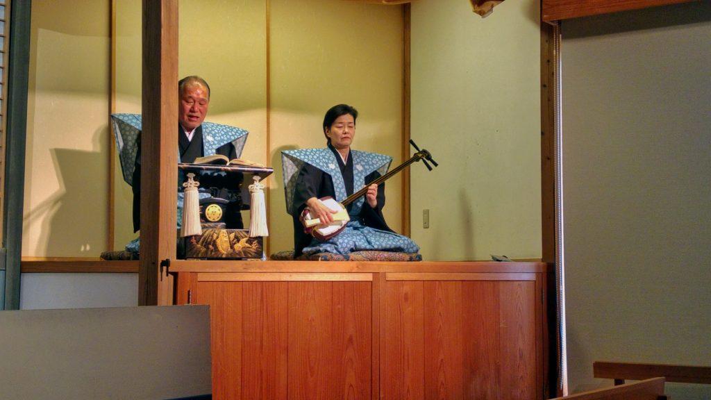 Les musiciens du spectacle de Bunraku