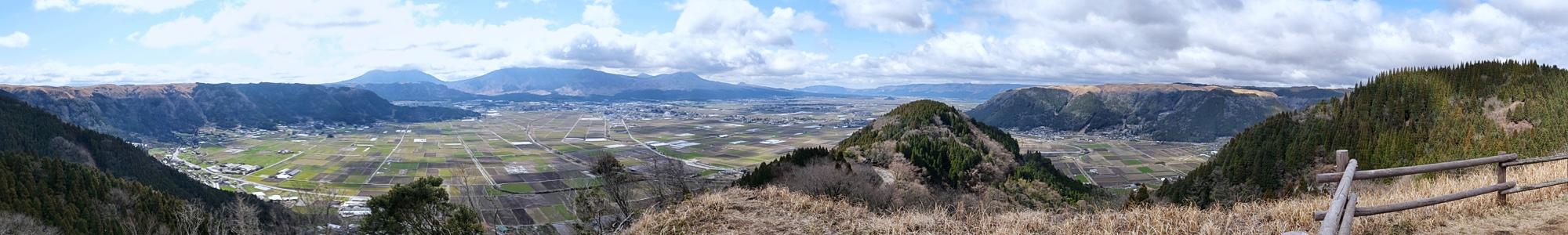 Panorama de la caldeira d'Aso