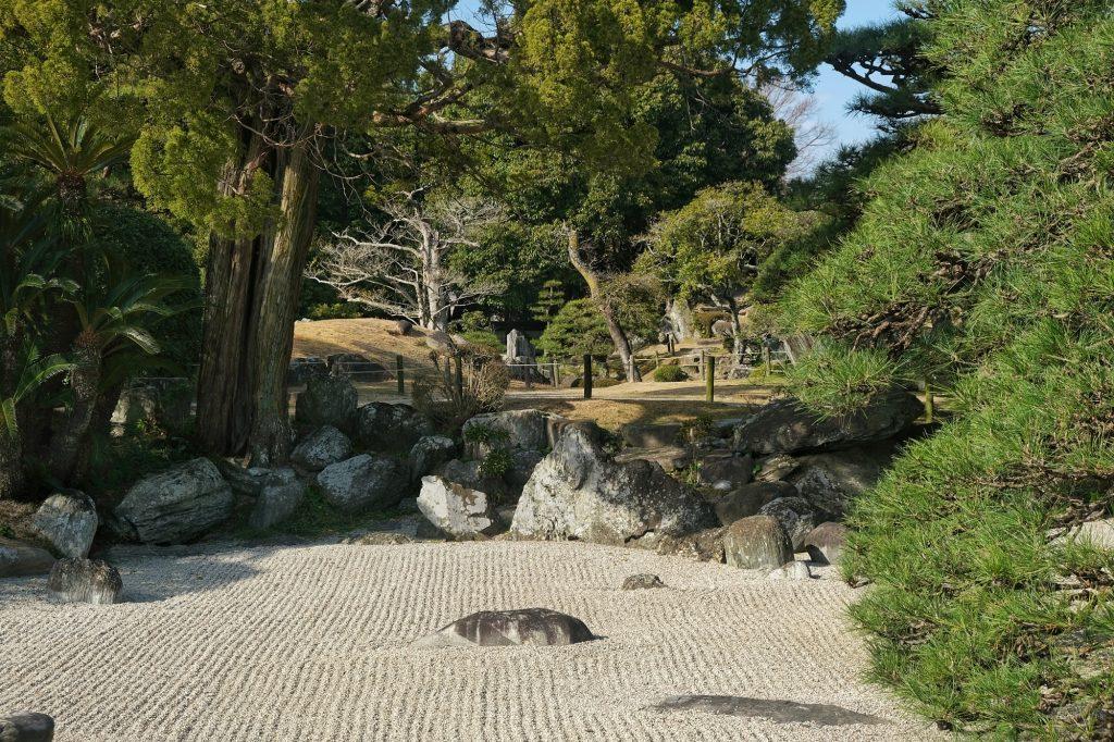 Sérénité dans le jardin Omote Goten de Tokushima