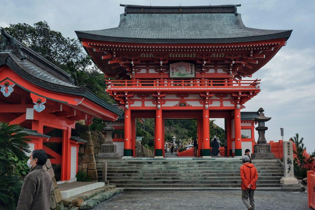 L'entrée du sanctuaire Udo-jingu