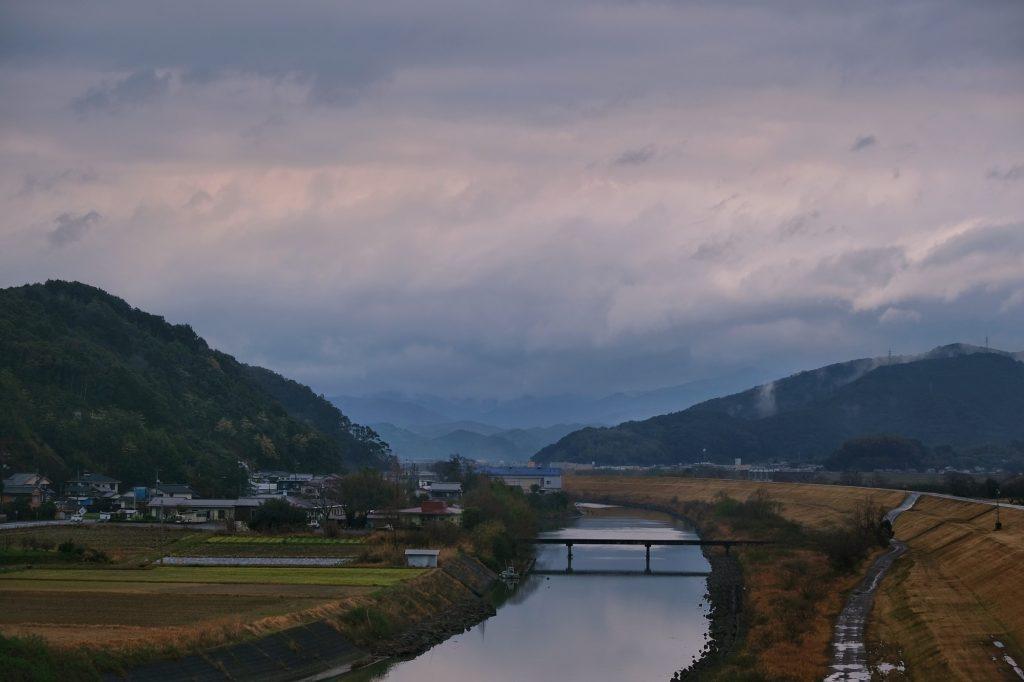 Rivière et montagnes dans la préfecture de Kochi