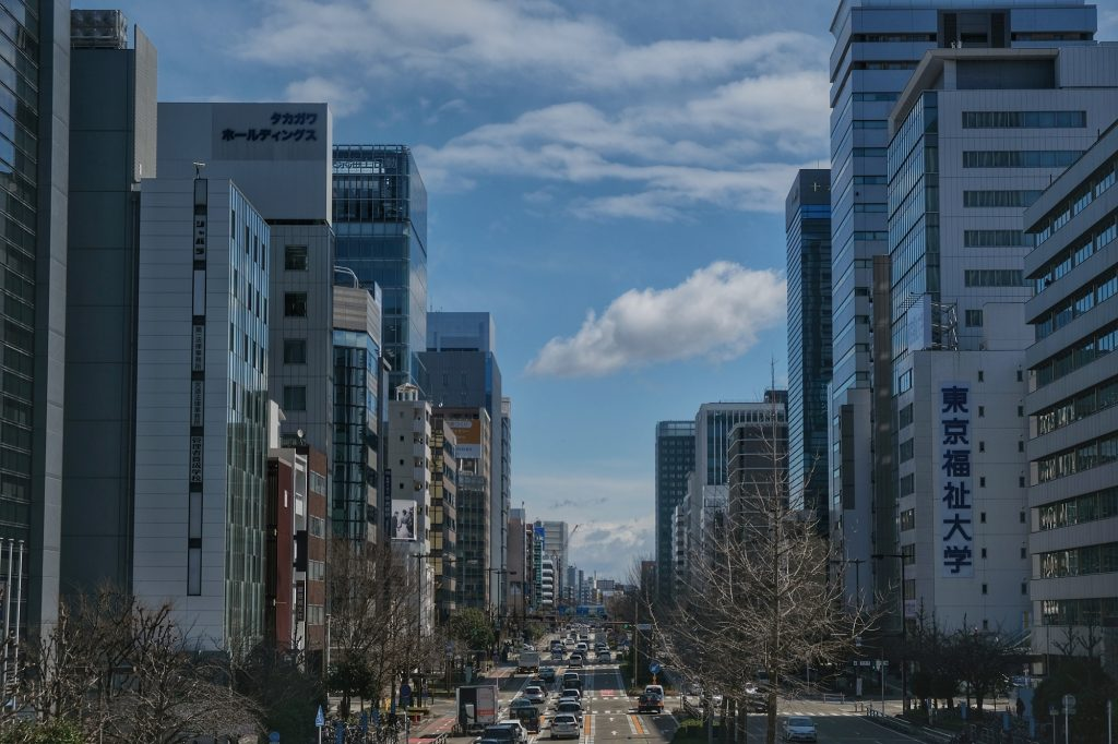 Une grande avenue de Nagoya