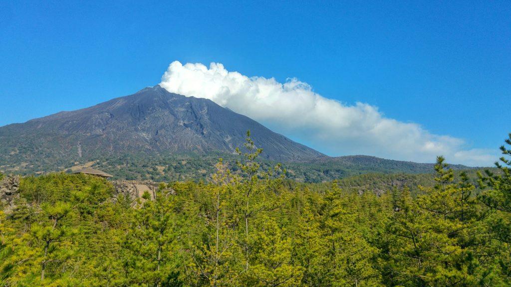 Le Sakurajima et ses différentes végétations (selon l'époque de la coulée de lave)