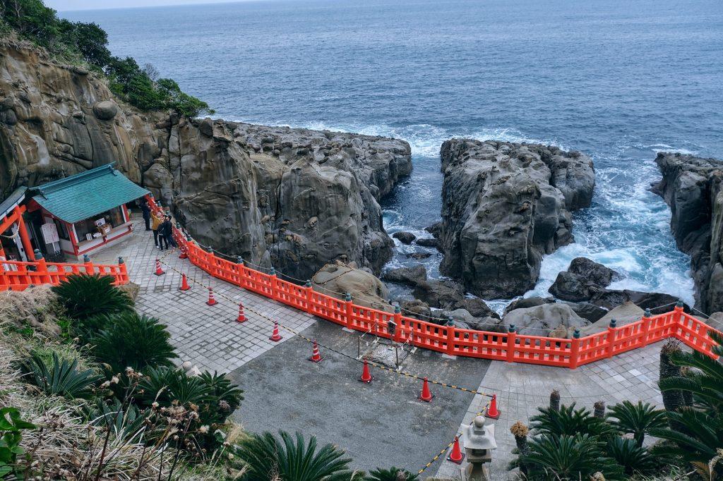 Le sanctuaire Udo-jingu fait face à la mer