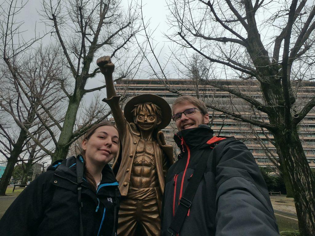 Selfie avec Luffy
