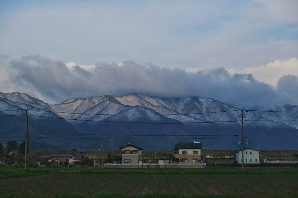 Sommets enneigés entre Ise et Nagoya