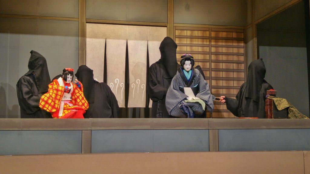 Spectacle de marionnettes traditionnelles au musée Awa Jurobe Yashiki près de Tokushima