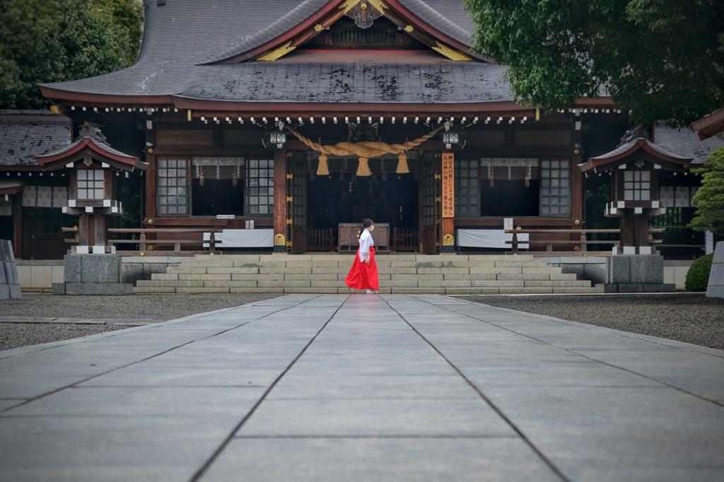 Le temple Izumi dans le parc Suizenji de Kumamoto
