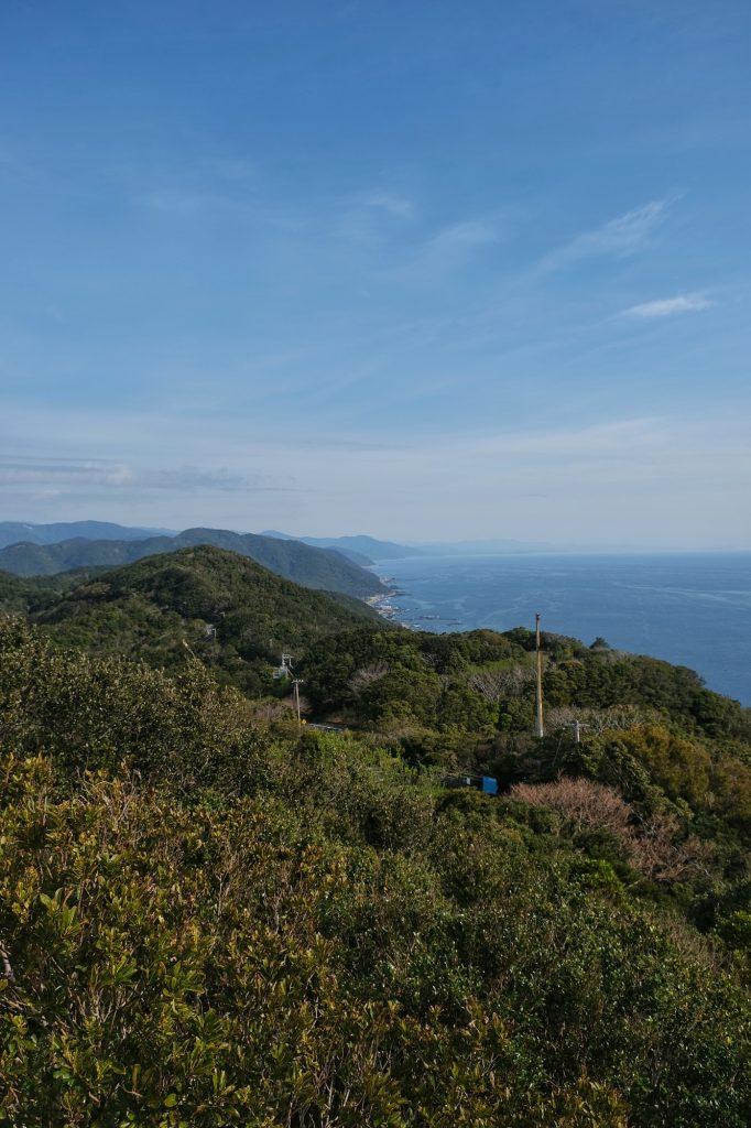 Vue du littoral du cap Muroto