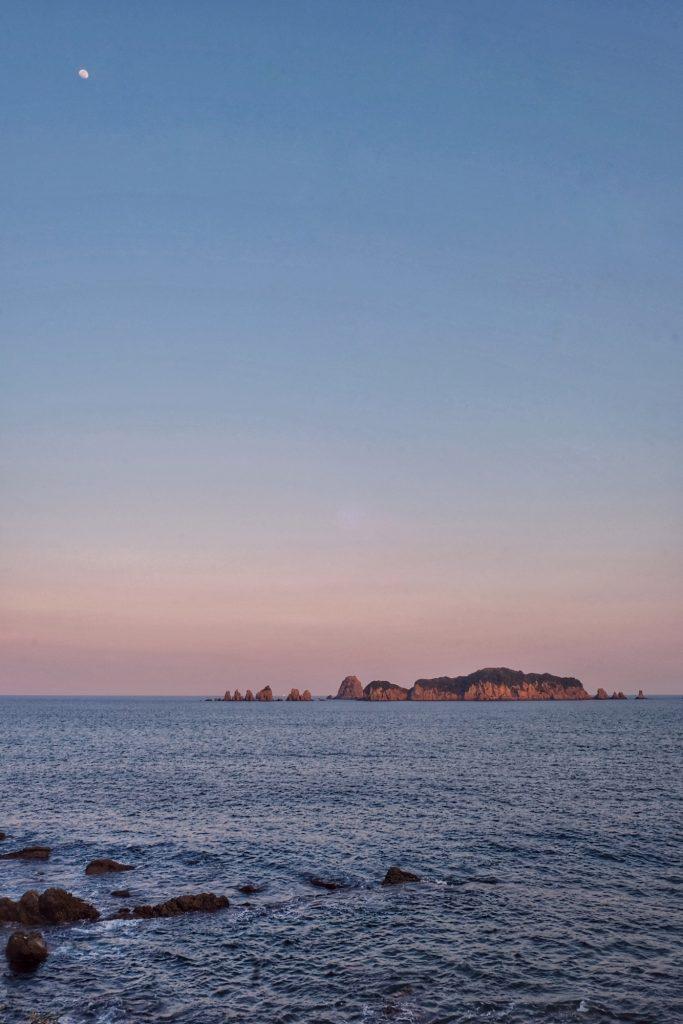 Vue de la mer depuis le camping d'Izakibana