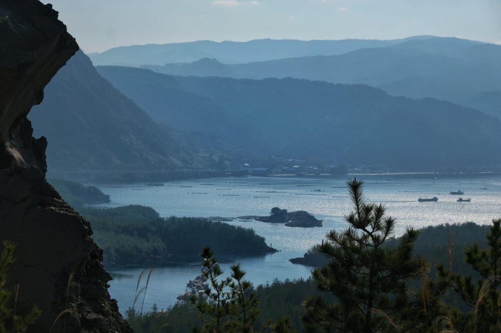 Vue de la baie de Kagoshima depuis le Sakurajima