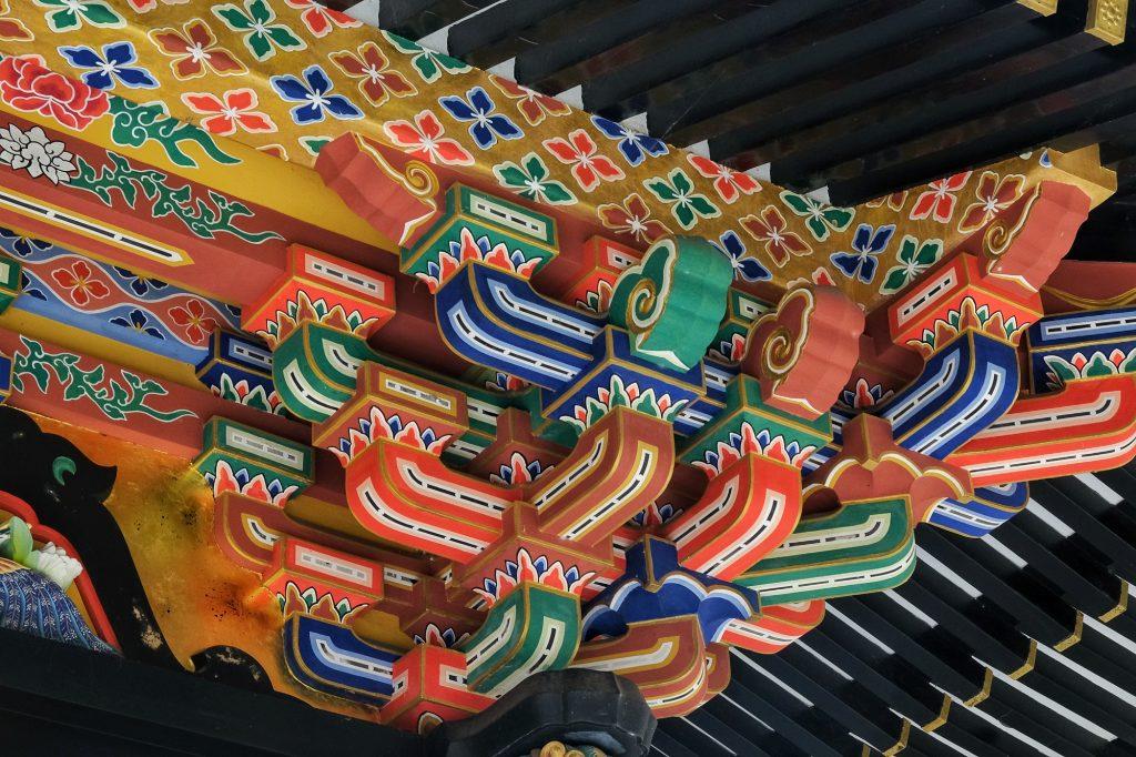 Les décorations du temple Kansenden à Sendai