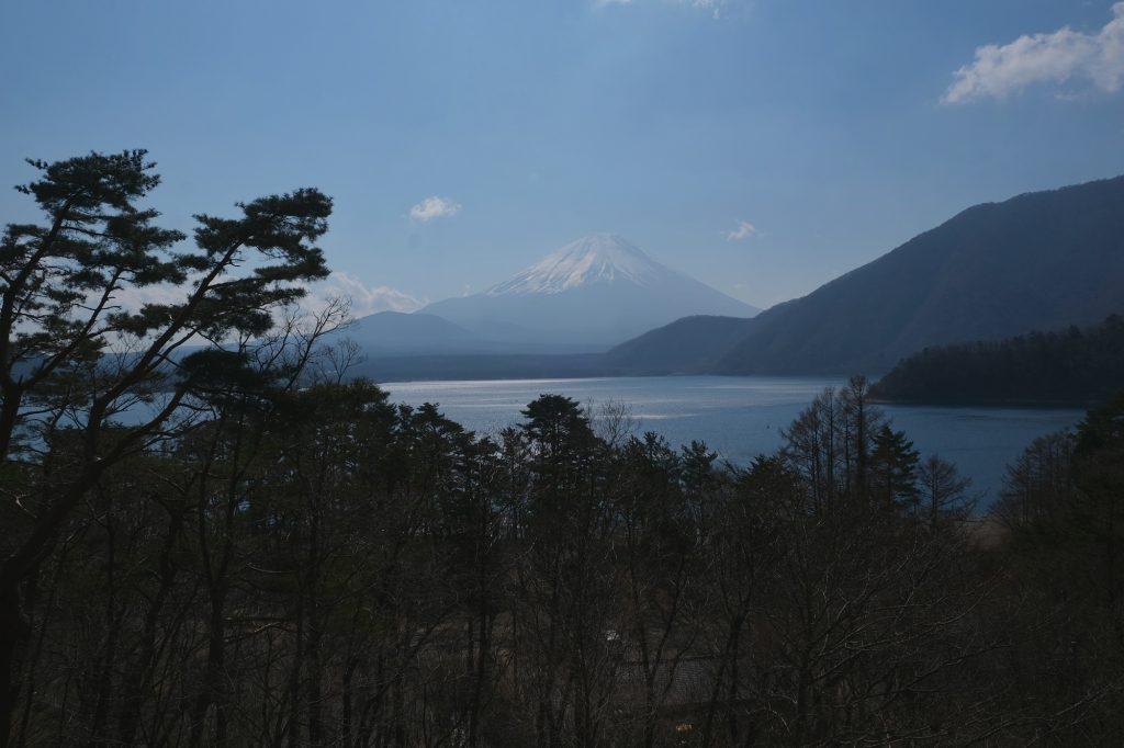 Vue du mont Fuji et du lac Mototsu